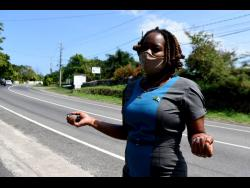 Monique Richards recalls her near-death experience, standing close to where the collision took place.