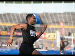 Anthony Carpenter of Legacy Athletics competes in his heat of the men's 200m at the JAAA qualification meet, held at the National Stadium on Saturday, March 13.