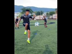 Leon Bailey in training at the Captain Horace Burrell Centre of Excellence, Mona.
