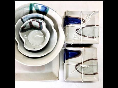 Some of Pinto's dinnerware.