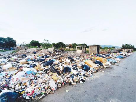 A dump site in Jones Town.