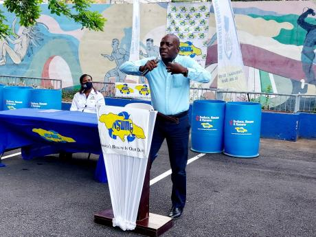 Executive Director at the National Solid Waste Management Authority, Audley Gordon.