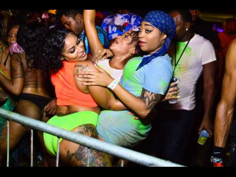 Patrons enjoying themselves at Dream Jouvert Soca party, which was the final event for Dream Weekend 2019.
