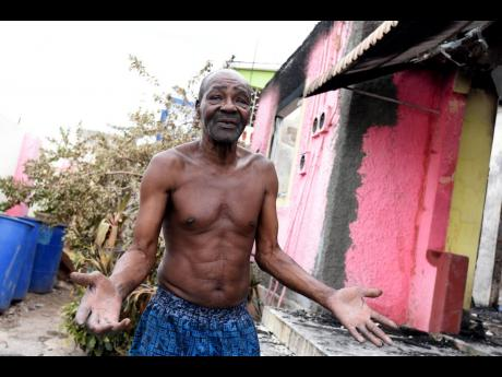 Oscar Palmer recounts the horrors of Tuesday morning when his house was set ablaze, allegedly by gunmen.